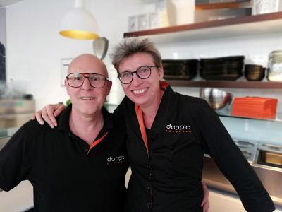 Eric Bouhuijs en Annette de Ridder van Doppio Espresso