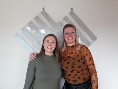 Herma van Hienen (l) en Manuela van Dasselaar