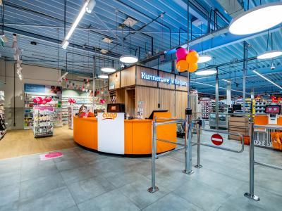 COOP-supermarkt met DA select